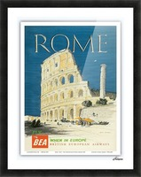 British European Airways travel poster for Rome Picture Frame print