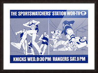1967 New York Knicks and Rangers WOR TV9 Ad Picture Frame print