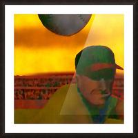 1963 Vintage Baseball Sunset Pitch Art Picture Frame print