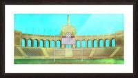 Vintage LA Coliseum Art  Picture Frame print