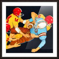 1959 Vintage Football Tackle Art  Picture Frame print