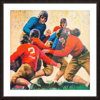 1937 Vintage Football Art Picture Frame print
