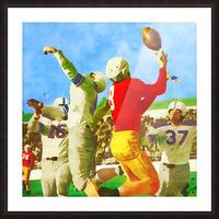 1947 Vintage Football Art Gift Idea Picture Frame print