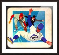1981 Retro Viewfinder Slide Baseball Art Picture Frame print