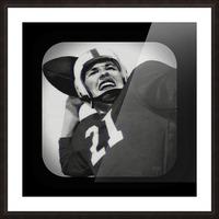 1954 Vintage Television Set Football Quarterback Art Picture Frame print