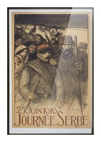 Vintage---Journey-to-Serbia Picture Frame print
