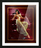 Did You Recognize Me by Gil Elvgren Vintage Pinup Illustration Xzendor7 Old Masters Reproductions Picture Frame print