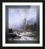 Snow Landscape by Alexander Joseph Daiwaille Classical Art Xzendor7 Old Masters Reproductions Picture Frame print