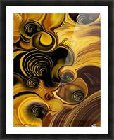 Abstraction with Meditation Picture Frame print