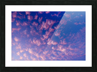 Pink and White Cotton Candy Skies over the Pacific Northwest   Abstract Expressionist Robert Stanek Original Picture Frame print