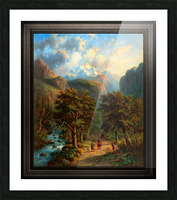 Landscape In The High Mountains by Alexander Joseph Daiwaille Classical Fine Art Xzendor7 Old Masters Reproductions Picture Frame print