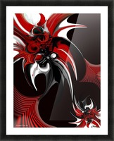 Red & Black Formation Picture Frame print