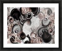 Soft Impression of Dysplastic Departure  Picture Frame print