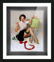Neat Package by Gil Elvgren Vintage Pinup Illustration Xzendor7 Old Masters Reproductions Picture Frame print