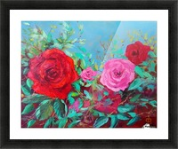 Roses challenge.  Picture Frame print
