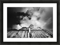One with mountain Picture Frame print