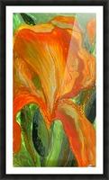 Polyptic with irises 2 by Vali Irina Ciobanu Picture Frame print
