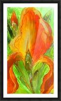 Polyptic with irises 4 by Vali Irina Ciobanu Picture Frame print