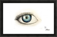 Eye Picture Frame print