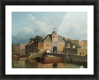 A view of a city gate Picture Frame print