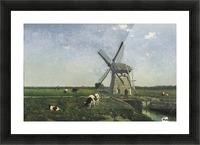 Landscape with Windmill near Schiedam Picture Frame print