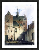 Culemborg, view at the westerly facade of the town hall at Wagenweg Picture Frame print