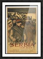 Vintage---Save-Serbia Picture Frame print
