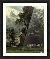 Cows in a Sunny Landscape Picture Frame print