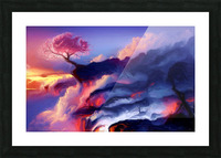 Fiery Mountain Picture Frame print