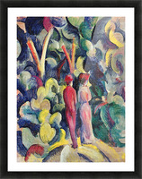 Couple in the forest by August Macke Picture Frame print