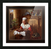 The Lace Maker by Josephus Laurentius Dyckmans Classical Fine Art Xzendor7 Old Masters Reproductions Picture Frame print