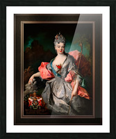 Lady Maria Josefa Drummond by Jean-Baptiste Oudry Classical Fine Art Xzendor7 Old Masters Reproductions Picture Frame print