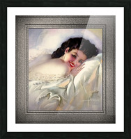 Sweet Dreams by Rolf Armstrong Vintage Illustration Xzendor7 Art Reproductions Picture Frame print