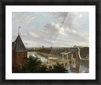 De Torensluis met de Jan Roodenpoortstoren te Amsterdam, 1829 Picture Frame print