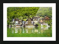 Snapshot in Time Hallstatt in the Upper Austria Alps 1 of 3 Picture Frame print