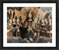 Christ Blessing, central panel from a triptych from the Church of Santa Maria la Real, Najera Picture Frame print