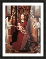 Virgin and Child enthroned with two Angels Picture Frame print