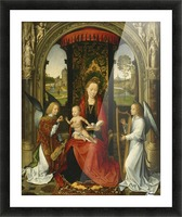 Madonna and Child with Angels Picture Frame print