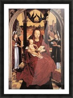 Virgin and Child Enthroned with two Musical Angels Picture Frame print