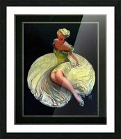 Golden Girl by Roy Best Vintage Illustration Xzendor7 Art Reproductions Picture Frame print