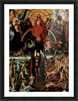 The Last Judgment, triptych, central panel Picture Frame print