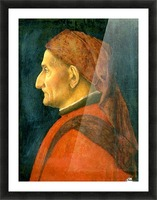 Portrait of an old man Picture Frame print