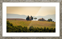 small church in tuscany Picture Frame print