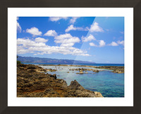 Brilliant Blue Skies Over Hanauma Bay Hawaii Picture Frame print