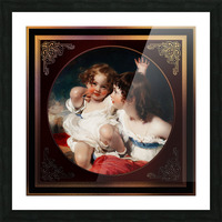 Nature - The Calmady Children by Sir Thomas Lawrence Classical Fine Art Xzendor7 Old Masters Reproductions Picture Frame print