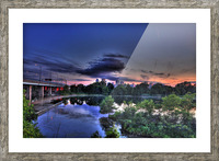 montreal island Picture Frame print