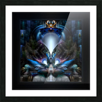 Herald The Light Fractal Wings Digital Art by Xzendor7 Picture Frame print