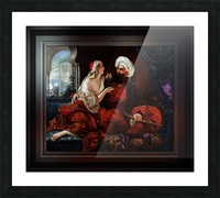 Ali Pasha and Kira Vassiliki by Paul Emil Jacobs Classical Fine Art Xzendor7 Old Masters Reproductions Picture Frame print