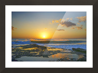 Brilliant Sunset at the Bay Hawaii Picture Frame print