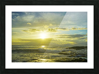 The Sun Sets at the Tidal Pools Hawaii Picture Frame print